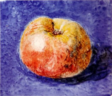 Study of an Apple by Ruskin (1875)